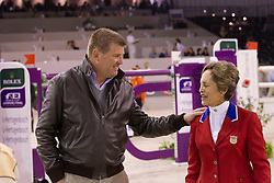 Engle Margie (USA) with Stefan Conter (BEL)<br /> Rolex FEI World Cup™ Jumping Final 2012<br /> 'S Hertogenbosch 2012<br /> © Dirk Caremans
