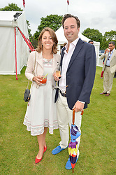 JAMIE & LOTTIE MURRAY-WELLS at the Cartier Queen's Cup Final 2016 held at Guards Polo Club, Smiths Lawn, Windsor Great Park, Egham, Surry on 11th June 2016.