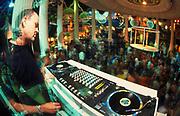 DJ Danny Rampling dj'ing at Clockwork Orange Es Paradis San Antonio Ibiza 2000's