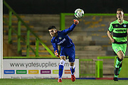 Forest Green Rovers goalkeeper Harrison Yates(13) throws the ball out during the FA Youth Cup match between U18 Forest Green Rovers and U18 Cheltenham Town at the New Lawn, Forest Green, United Kingdom on 29 October 2018.