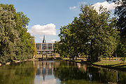 Weimarhallen am Teich, Weimarhallenpark, Weimar, Thüringen, Deutschland   Weimarhallen, pond, Weimarhallen park, Weimar, Thuringia, Germany