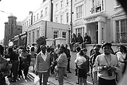 Nun overlooking Carnival, Notting Hill Carnival, London, 1989