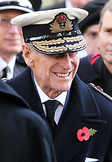NOV 8 2012 Duke of Edinburgh opens the Field of Remembrance