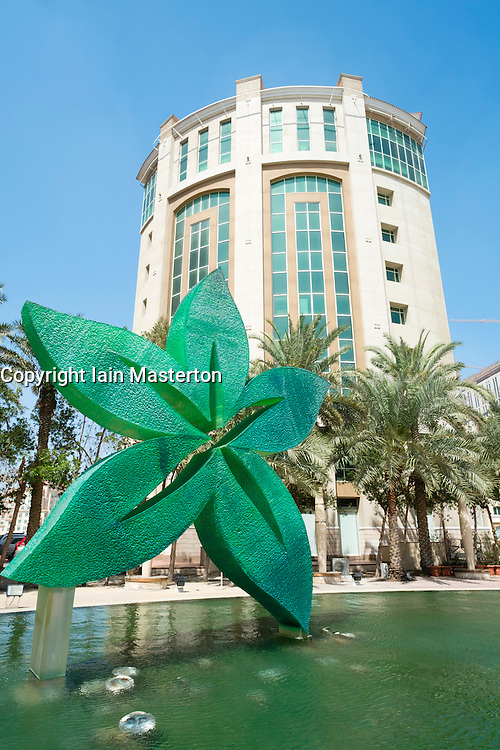 Healthcare City district with many hospitals and healthcare facilities in Dubai United Arab Emirates