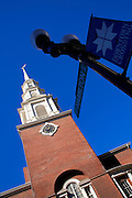 Image of the Park Street Church along the Freedom Trail in Boston, Massachusetts, New England