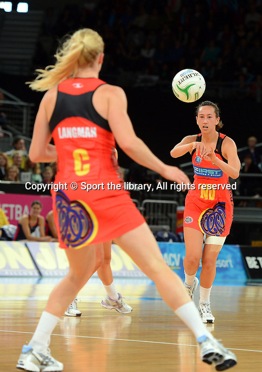 Elias Shadrock (Magic)<br /> 2012 ANZ Netball Championships / finals<br /> Melbourne Vixens vs WBOP Magic<br /> Sunday July 22nd 2012 <br /> Hisense Arena/ Melbourne Australia <br /> &copy; Sport the library / Jeff Crow