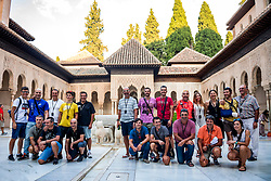 21-09-2018 ESP: BvdGF La Vuelta a Sierra Nevada day 6, Granada<br /> Sixth day of the mountainbike and cycling challenge Granada. The Alhambra was so called because of its reddish walls (in Arabic, («qa'lat al-Hamra'» means Red Castle). It is located on top of the hill al-Sabika, on the left bank of the river Darro, to the west of the city of Granada and in front of the neighbourhoods of the Albaicin and of the Alcazaba.