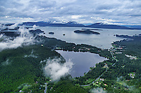 Auke Lake (foreground) & Auke Bay