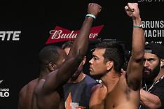 UFC Sao Paulo Weigh In - 28 Oct 2017