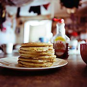 SHISHMAREF, ALASKA - 2010: Hot Cakes.
