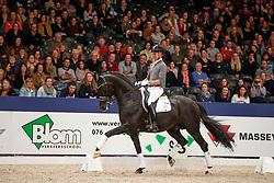 Minderhoud Hans Peter, NED, Glock's Dream Boy<br /> KWPN Stallionshow - 's Hertogenbosch 2018<br /> © Hippo Foto - Dirk Caremans<br /> 02/02/2018
