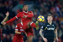 LIVERPOOL, ENGLAND - Boxing Day, Tuesday, December 26, 2017: Liverpool's Georginio Wijnaldum during the FA Premier League match between Liverpool and Swansea City at Anfield. (Pic by David Rawcliffe/Propaganda)