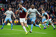 Burnley forward Ashley Barnes (10) during the Premier League match between Burnley and West Ham United at Turf Moor, Burnley, England on 30 December 2018.