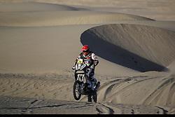 Slovenian Enduro Biker Miran Stanovnik competes during 35th rally Dakar - 2013 edition from Lima (Peru) towards Santiago (Chile), on January 8, 2013. (Photo by MaindruPhoto)