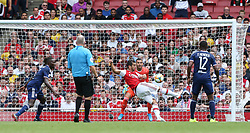 Henrikh Mkhitaryan of Arsenal shoots - Mandatory by-line: Arron Gent/JMP - 28/07/2019 - FOOTBALL - Emirates Stadium - London, England - Arsenal v Olympique Lyonnais - Emirates Cup