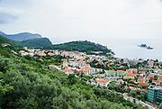 Petrovac, Montenegro, townscape with the Adriatic sea
