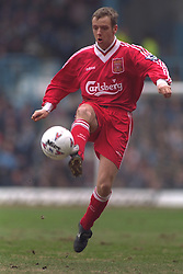 COVENTRY, ENGLAND - Saturday, April 6, 1996: Liverpool's Rob Jones in action against Coventry City during the Premiership match at Highfield Road. Coventry won 1-0. (Pic by David Rawcliffe/Propaganda)