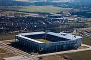 Nederland, Limburg, Gemeente Sittard-Geleen., 07-03-2010; Trendwork Arena, destijds Wagner & Partners Stadion, stadion Fortuna-Sittard (Jupiler League ).luchtfoto (toeslag), aerial photo (additional fee required).foto/photo Siebe Swart