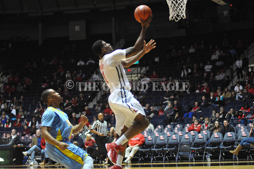 "Ole Miss' guard Terence Smith (3) vs. Southern at the C.M. ""Tad"" Smith Coliseum in Oxford, Miss. on Thursday, November 20, 2014. (AP Photo/Oxford Eagle, Bruce Newman)"