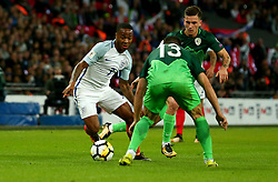 Raheem Sterling of England takes on Bojan Jokic of Slovenia - Mandatory by-line: Robbie Stephenson/JMP - 05/10/2017 - FOOTBALL - Wembley Stadium - London, United Kingdom - England v Slovenia - World Cup qualifier