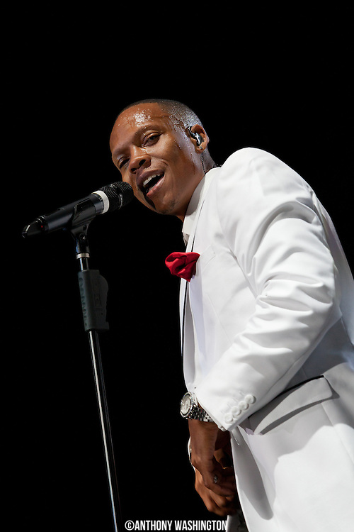 Ronnie DeVoe of the group New Edition performs during the groups 30th Anniversary Reunion Tour at the 1st Mariner Arena in Baltimore, MD on Sunday, May 20, 2012.