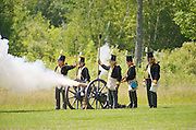 The Battle of Crysler's Farm  Royal Artillery bombardment softens up U.S. line.  The Battle of Crysler's Farm.
