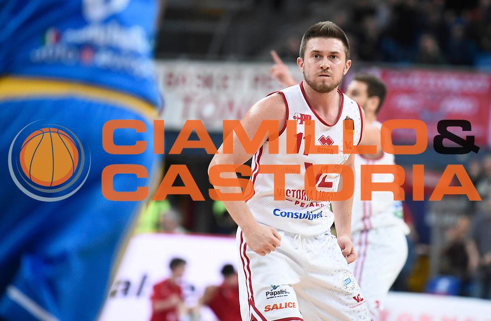 Clarke Rotnei<br /> Victoria Libertas Pesaro - Betaland Capo d'Orlando<br /> Lega Basket Serie A 2017/2018<br /> Reggio Emilia, 11/03/2018<br /> Foto A.Giberti / Ciamillo - Castoria