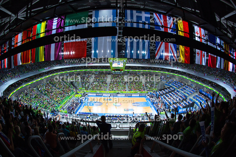 View on the arena during basketball match between national team of Finland and Slovenia at Eurobasket 2013 on September 16, 2013 in SRC Stozice, Ljubljana, Slovenia. (Photo By Matic Klansek Velej / Sportida.com)