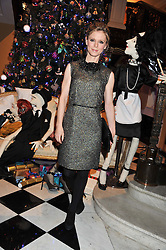 EMILIA FOX at the unveiling of the Claridge's Christmas tree 2011 designed by Alber Elbaz for Lanvin held at Claridge's, Brook Street, London on 5th December 2011.