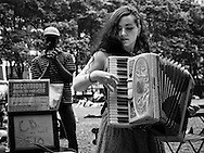 Accordions around the World festival in Bryant Park, New York City.