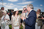 DAWN JONES; TOMMY LEE JONES; ARNAUD BAMBERGER<br /> Cartier International Polo. Guards Polo Club. Windsor Great Park. 25 July 2010. -DO NOT ARCHIVE-&copy; Copyright Photograph by Dafydd Jones. 248 Clapham Rd. London SW9 0PZ. Tel 0207 820 0771. www.dafjones.com.