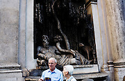 The four fountains (Le quattro fontane). Rome, Italy