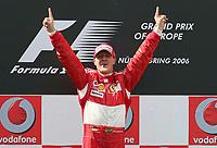 Motor<br /> Foto: Witters/Digitalsport<br /> NORWAY ONLY<br /> <br /> 07.05.2006<br /> Sieger Michael Schumacher Ferrari<br /> Formel 1 Grosser Preis von Europa 2006 Nuerburgring