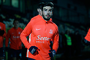 Eren Kinali warms up before the EFL Sky Bet League 1 match between Burton Albion and Southend United at the Pirelli Stadium, Burton upon Trent, England on 3 December 2019.
