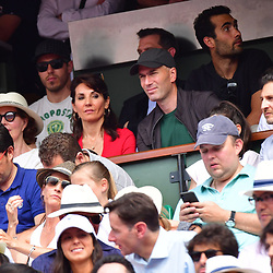 Former French footballer Zinedine Zidane with his wife Veronique during Day 15 (Men's Final Day) of the French Open 2018 on June 10, 2018 in Paris, France. (Photo by Dave Winter/Icon Sport)