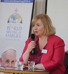 Breda O&rsquo;Brien Irish Times colomunist speaking at the &lsquo;Celebrating Family&rsquo; day held Knock Shrine recently.<br /> Pic Conor McKeown
