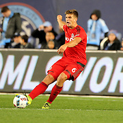NEW YORK, NEW YORK - November 06: Nick Hagglund #6 of Toronto FC in action during the NYCFC Vs Toronto FC MLS playoff game at Yankee Stadium on November 06, 2016 in New York City. (Photo by Tim Clayton/Corbis via Getty Images)