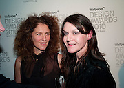AMANDA MANN; SUZANNE TROCME, Wallpaper* Design Awards. Wilkinson Gallery, 50-58 Vyner Street, London E2, 14 January 2010 *** Local Caption *** -DO NOT ARCHIVE-© Copyright Photograph by Dafydd Jones. 248 Clapham Rd. London SW9 0PZ. Tel 0207 820 0771. www.dafjones.com.<br /> AMANDA MANN; SUZANNE TROCME, Wallpaper* Design Awards. Wilkinson Gallery, 50-58 Vyner Street, London E2, 14 January 2010