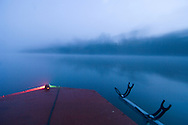 Fishing boat at dawn, catawba River