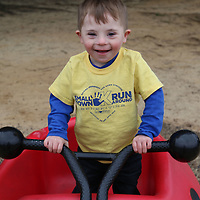 Libby Ezell | BUY at PHOTOS.DJOURNAL.COM<br /> Chance Branett, 4 plays on the playground at Saturday's Buddy Walk