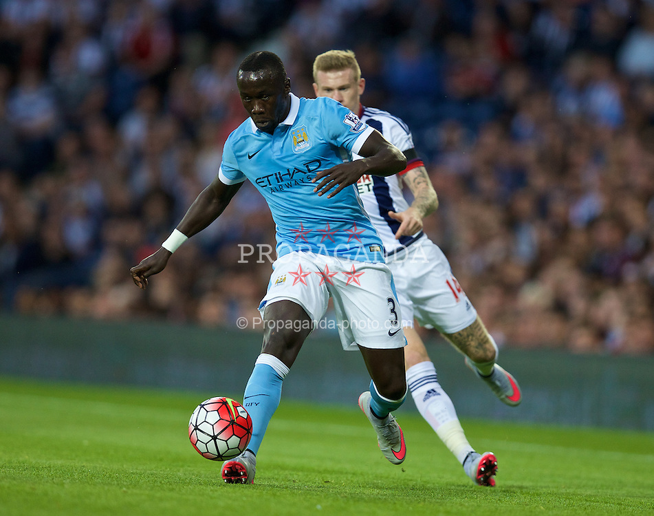 WEST BROMWICH, ENGLAND - Monday, August 10, 2015: Manchester City's Bacary Sagna in action against West Bromwich Albion during the Premier League match at the Hawthorns. (Pic by David Rawcliffe/Propaganda)