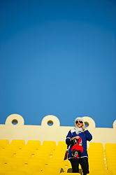 A female fan of Kuwait at the Asian Cup 2011 in the Al Gharafa Stadium in Doha, Qatar