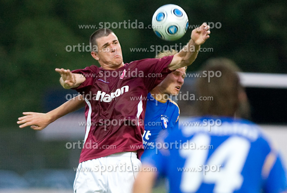 Rafael Vieira vs Gregor Balazic of Gorica at 1st football match of 2nd preliminary Round of UEFA Europe League between ND Gorica and FC Lahti, on July 16 2009, in Nova Gorica, Slovenia. (Photo by Vid Ponikvar / Sportida)