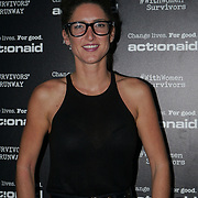 U Block 146 Brick Lane, London, UK. 10th October, 2017. Caryn Franklin attend the ActionAid Survivors Runway - fashion show showcase the inner strength and dignity of survivors who have had the courage to speak out against gender-based violence