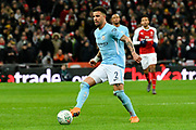 Kyle Walker (2) of Manchester City during the EFL Cup Final match between Arsenal and Manchester City at Wembley Stadium, London, England on 25 February 2018. Picture by Graham Hunt.