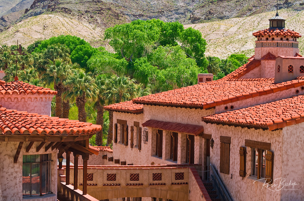 The main building at Scottys Castle, Death Valley National Park. California