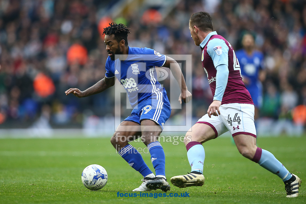 Jacques Maghoma of Birmingham City (left) during the Sky Bet Championship match at St Andrews, Birmingham<br /> Picture by Andy Kearns/Focus Images Ltd 0781 864 4264<br /> 30/10/2016