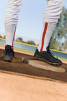 Baseball Player Standing on Base