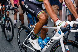 Alejandro Valverde (ESP) of Movistar Team (ESP,WT,Canyon) after stage 1 from Bruxelles to Brussel of the 106th Tour de France, 6 July 2019. Photo by Pim Nijland / PelotonPhotos.com | All photos usage must carry mandatory copyright credit (Peloton Photos | Pim Nijland)