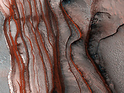 Layers of Cliffs in Northern Mars